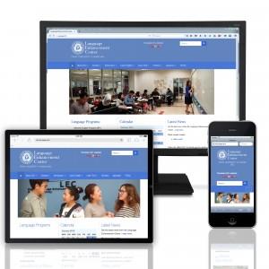 Language Enhancement Center website design