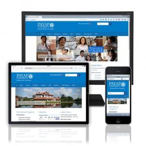 International College website design
