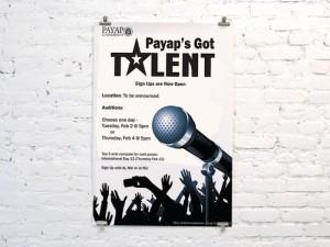 Payap's got talent poster